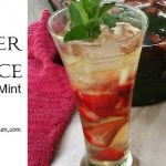Summer Solstice Strawberry-Mint Sun Tea Recipe